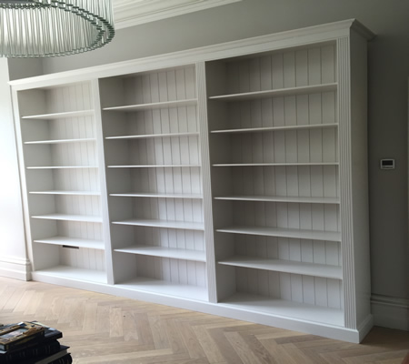 Large 3 Section Georgian Style Bookcase