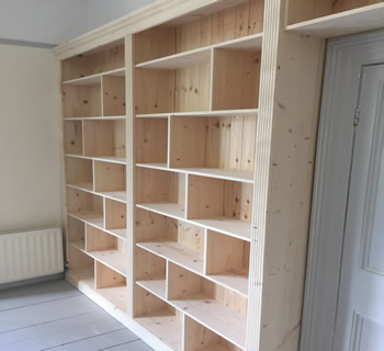 Made Measure Wall Bookcase Unit Over Door